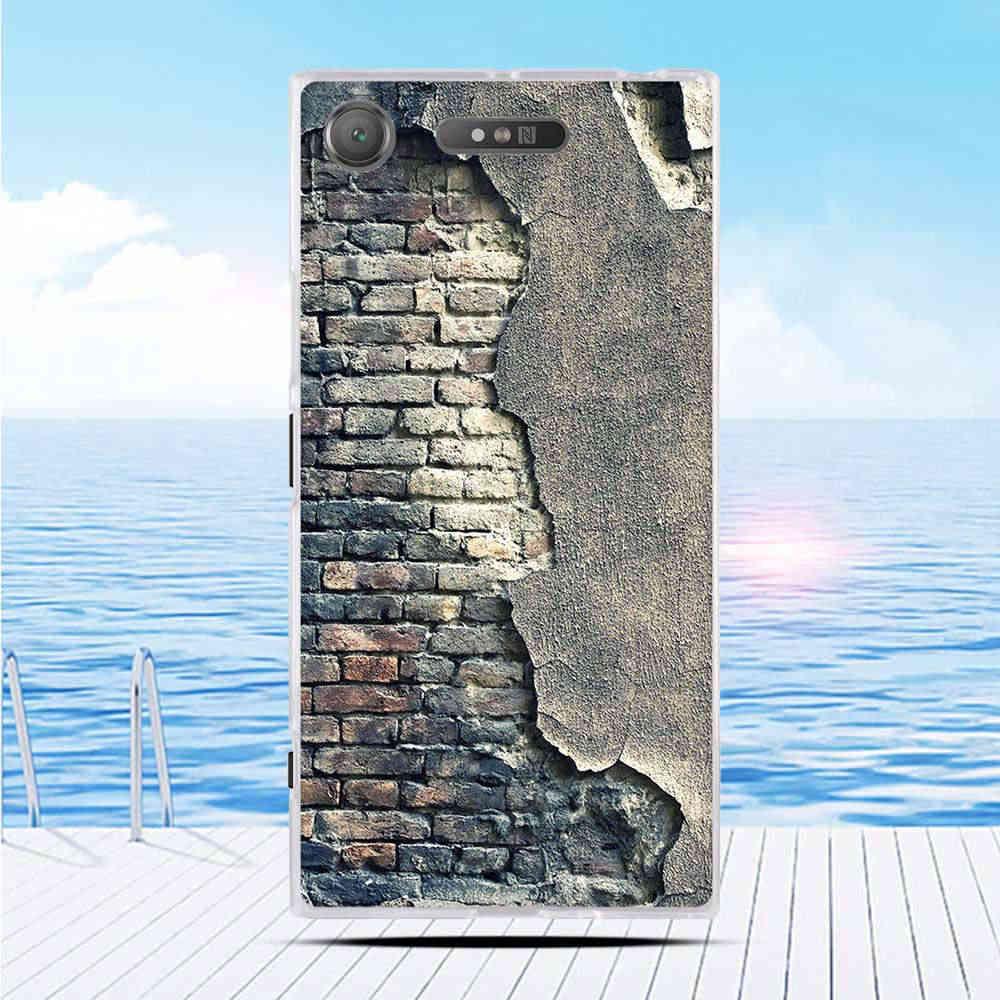 Kartun 3D Relief Printing Pattern Back Cover Tpu Soft Silicone Case Coque Capa Funda untuk Sony Xperia XZ1