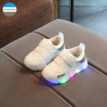 2018 Lampu LED anak Sneakers Bernapas Glowing Baru Lahir Bayi Laki-laki dan  Perempuan Sepatu. 3 Colors Available c39ad25696