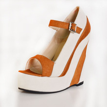 Causal Wedge Dress Shoes For Women Open Toe 2015 Pump Size 11 Designer Women High Heel Pump Fashion Ankle Straps Buckle