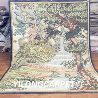Yilong 6'x7.6' New Gobelin Picture Tapestry French Design Hand Woven Aubusson Wall Hangings (Au33 6x7.6)