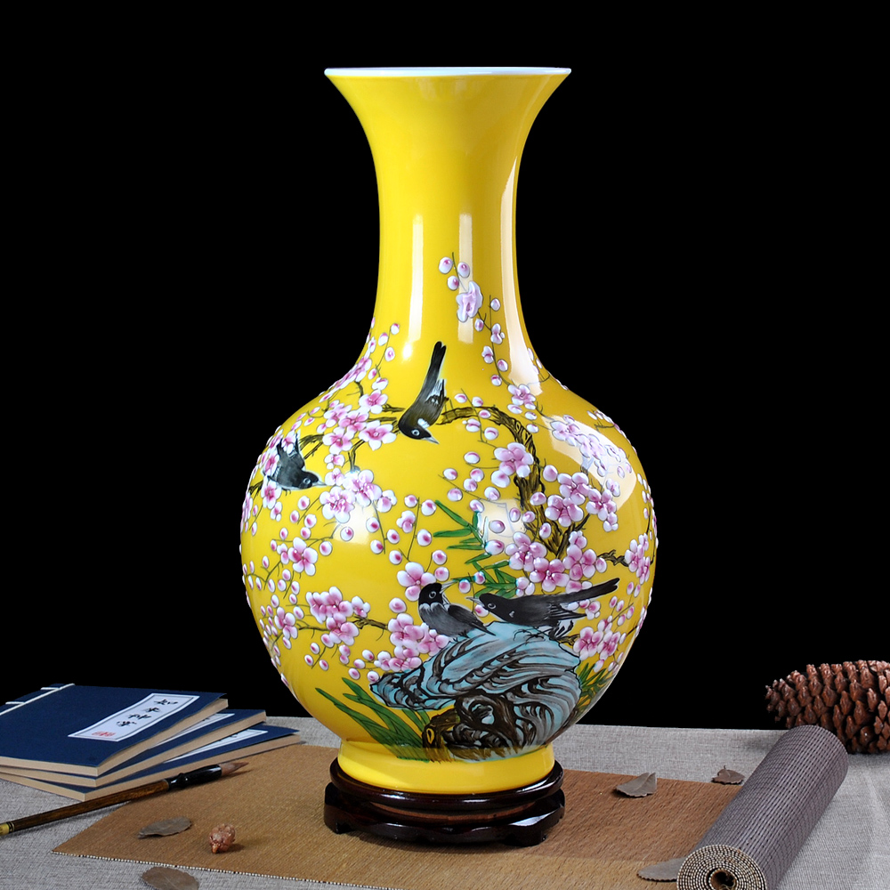 Jingdezhen is famous hand painted ceramic famille rose vase flower jingdezhen is famous hand painted ceramic famille rose vase flower large modern chinese style living room decoration in vases from home garden on reviewsmspy