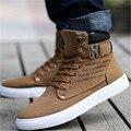 1 Par Sapatos Primavera Outono Outono Inverno Quente Homens Sapatos Confortáveis Sapatos Casuais Sapatos de Lona Botas PA871485