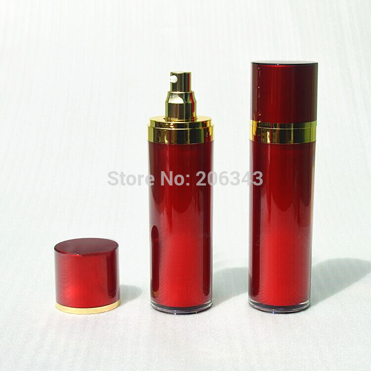 120ml pearl white acrylic  straight round bottle for lotion/emusion/serum/essence/foundation cosmetic packing plastic bottle