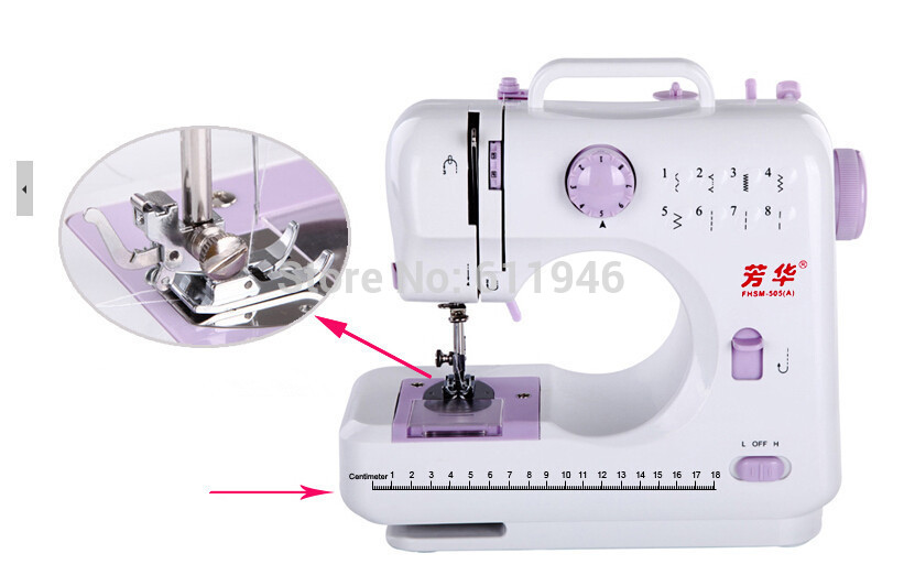 1PC 110/220v 505A Multi-function 8 Kinds of Trajectory Mini Electric Sewing Machine Replaceable Presser Foot