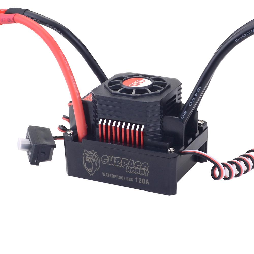 Image 5 - KK Waterproof Set 3674 1900KV 2250KV 2500KV Brushless Motor w/Heat Sink 120A ESC for 1/10 1/8 RC Car-in Parts & Accessories from Toys & Hobbies