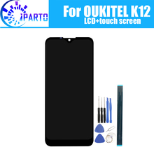 6.3 אינץ OUKITEL K12 LCD תצוגה + מסך מגע 100% מקורי נבדק LCD Digitizer זכוכית לוח החלפה עבור OUKITEL K12