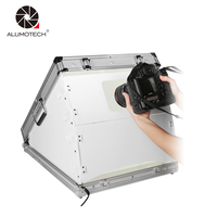 ALUMOTECH LED 24WX2 Day Light LED Build in Portable Photo Lighting Case Foldable Mini Photo Studio Box Case For Photography