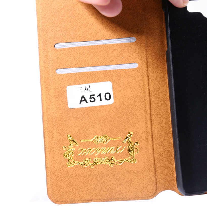 Na telefony komórkowe Samsung Galaxy A5 2016 skrzynki pokrywa A510 A510F wąż skórzane etui Capa dla Funda Samsung A5 2016 A510 5.2 cal przypadki