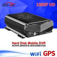 WIFI + GPS HDD Hard Disk 4CH Xe Di Động Dvr Thời Gian Thực Giám Sát Từ Xa HD Video Kỹ Thuật Số Mdvr AHD Xe máy ảnh Ghi