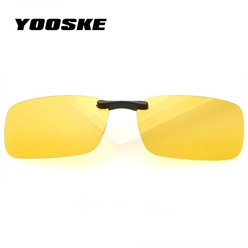 5721b42813a YOOSKE Polarized Sunglasses Man Clip On Myopia Eyeglasses Men Night Vision  Goggles Sun Glasses Flip Up