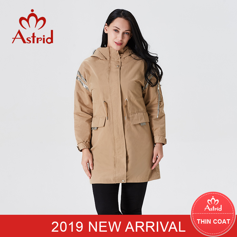 2019 Trench Coat Ladies Causal Coat Hooded Windbreaker Strong Shade Excessive High quality Feminine Trench Coat New B01