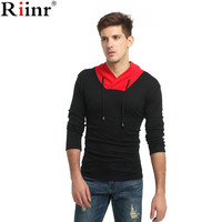 Riinr 2017 Fashion New Arrival T Shirts Men High Quality Autumn Casual Cotton Blends Long Sleeve