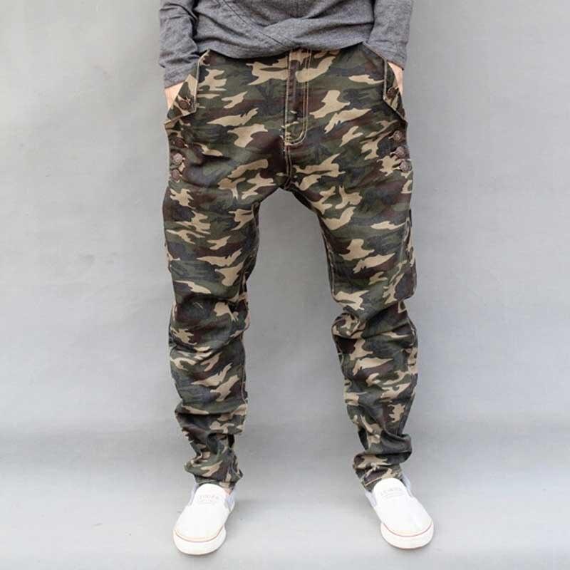Mænds Militære Camouflage Harem Jeans Bomuld Plus Størrelse Hip - Herretøj - Foto 2