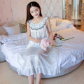 Pure ice silk woman nightgown summer Sleeveless sleeved ladies sleepwear fat MM long nightdress Home Furnishing wear