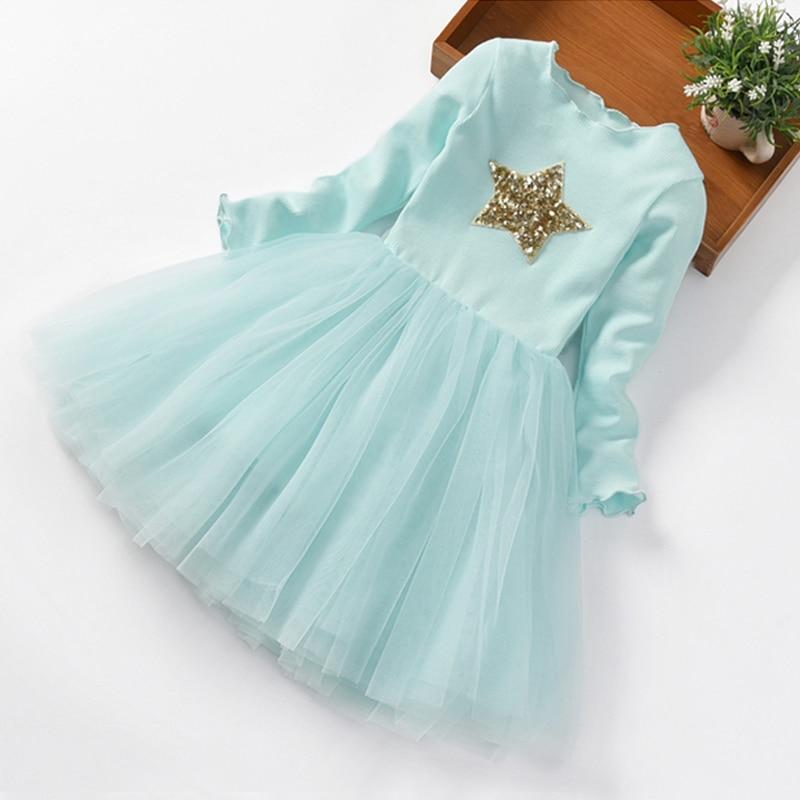 Brand Girls Clothes Super Star Design Baby Girls Dress Party Dress For Children Girls Clothing Tutu Birthday 3-8 Years Vestidos