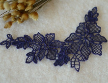 100Pieces Free Shipping 13X3.5cm Embroidery Lace Patch Wedding Design Decoration DIY Applique For Womens Dress New Arrival