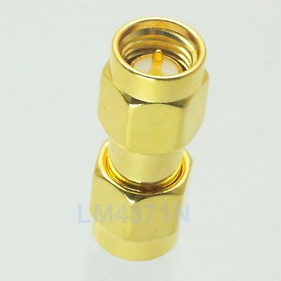 10pcs Adapter SMA male to SMA male plug RF connector straight gold plating M/M adapter n plug male nickel plating to sma female gold plating jack rf connector straight vc720re p15 0 3