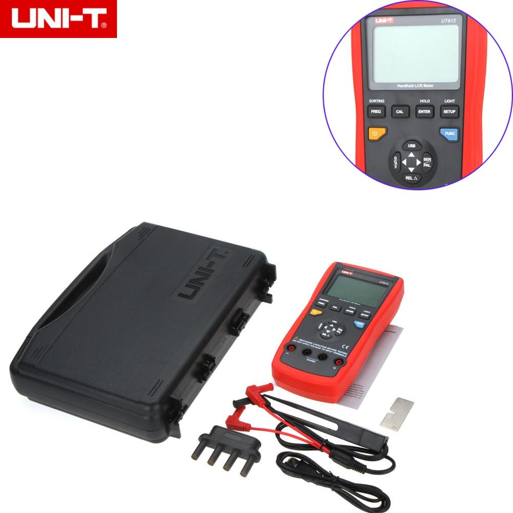 UNI-T UT612 Interfaccia USB 20000 Conti Induttanza Frequenza di Test Rapporto Deviazione di Misura LCR Metri con la scatola