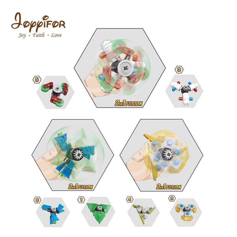 Joyyifor 6 in1 Gears Fidget Spinner Fingertip Finger Top Gyro Toys Hand Spiner Spiral Desktop Anti Stress Finger Game for child