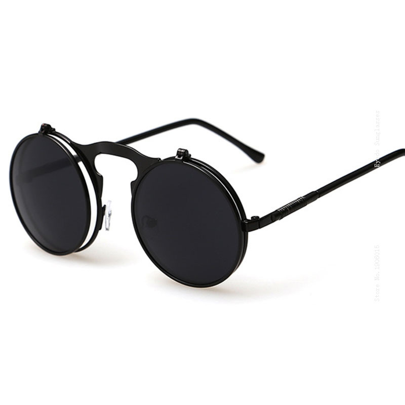 19b35d4afe VEGA Best Flip Up Sunglasses Men Women Steam Punk Glasses Round Steampunk  Sunglasses Circle Glasses Vintage Spectacles 3057-in Sunglasses from  Apparel ...