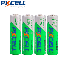 4 pièces PKCELL faible autodécharge batterie AA Durable 1.2 V 2200mAh Ni MH Batteries LSD rechargeables 1.2 volts 2A Baterias Bateria
