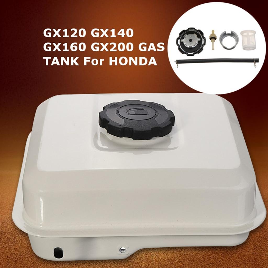 3LCar Petrol Fuel Gas Tank Engine Cap Filter Stationary Assembly White For Honda GX120 GX140 GX160 GX200