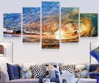 5 개 현대 아트 그림 바다 바다 웨이브 홈 장식 벽 캔버스 인쇄 프레임이없는