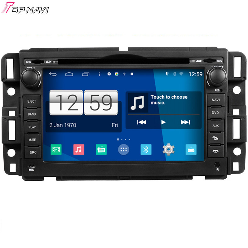 Top Free Shipping 7'' Quad Core S160 Android 4.4 Car DVD GPS For GMC With Multimedia Stereo Radio Audio Wifi BT Mirror Link