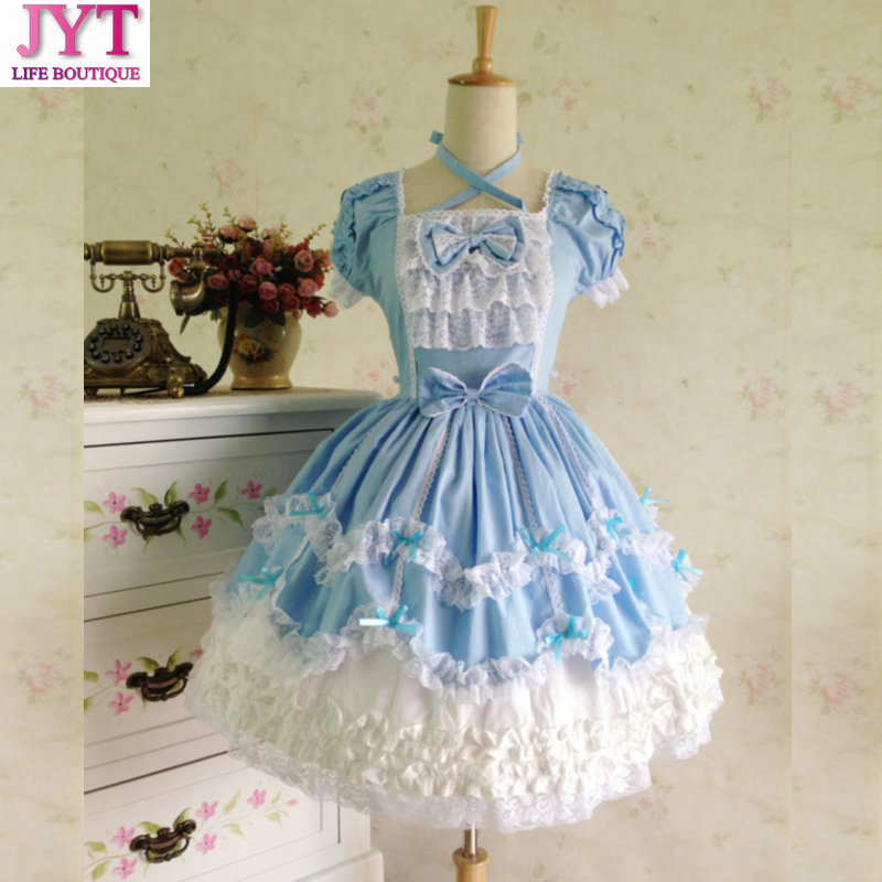 Free Shipping 2017 Plus Size Princess cosplay costume for girl lolita dress vintage medieval gothic dress women summer dress ems dhl free shipping toddler little girl s 2017 princess ruffles layers sleeveless lace dress summer style suspender
