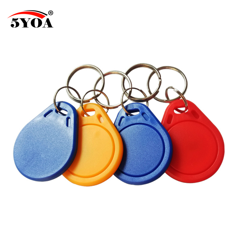 Access Control 100pcs 13.56mhz Ic Tags 1k S50 Abs Waterproof Iso Ic Key Fobs Access Control Keychain Rfid Smart Card Tag Easy To Repair