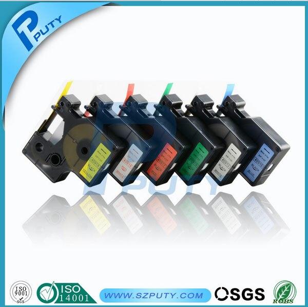Prix pour 5 pcs/lot dymo d1 bandes 12mm mixte color choosable 45013 45016 45017 45018 45019 compatible dymo label manager imprimante