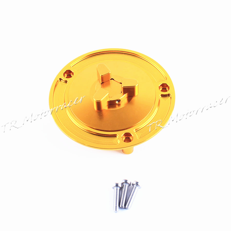 For Most of Suzuki Bike Gold Motorcycle Keyless Aluminum Fuel Gas Tank Cap Hot Motor Accessories One PCS motorcycle aluminum keyless fuel gas tank cap for most of suzuki bike motorcycle silver motor accessories