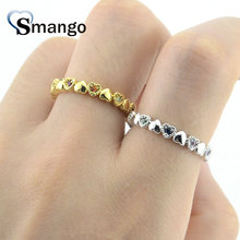 Women CZ Rings,Fashion Jewelry,The Rainbow Series, Heart Shape,4 Plating Colors Can Wholesale,5pcs