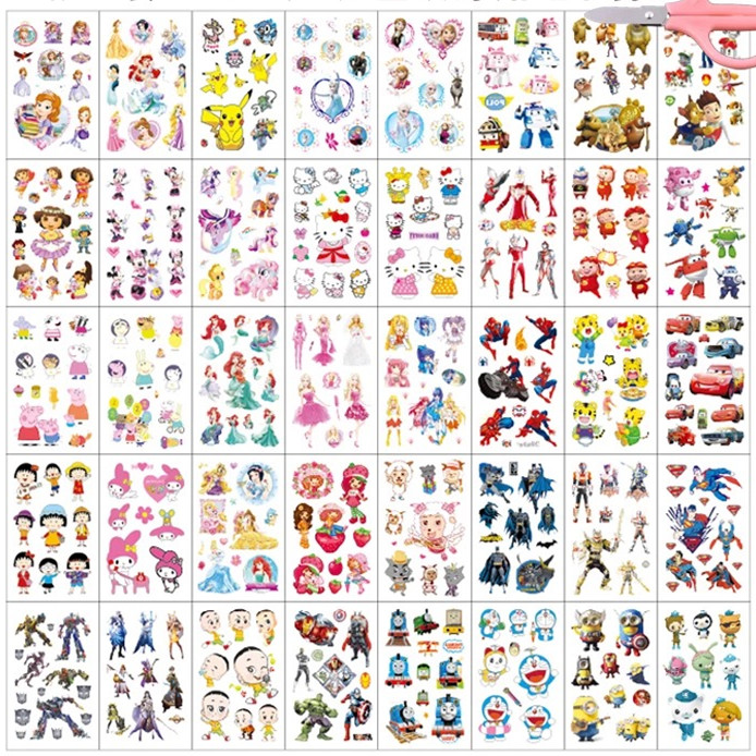 40pcs/set Fake Tattoo Sticker Kids Tattoo Waterproof Temporary Tattoo Sticker Cartoon Tatouage Enfant DIY Body Art Femme
