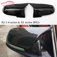 F30 Carbon Fiber Mirror Cover Replacement Mirror Caps for BMW 1 2 3 4 Series & X1 E84 2012 + Rear View Mirror Cover