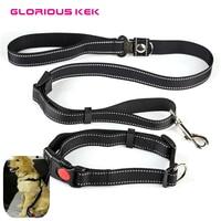 Multi Function Safety Dog Car Belt Reflective Dog Collar And Leash Set Outdoor Adjustable Running Walking