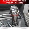 PARA BMW F22 F34 F30 F32 2 3 4 Série Real da Fibra do Carbono Da Shift de Engrenagem Knob Guarnição LHD Completo