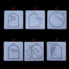 UV Frame Pendant Silicone Mold Flamingo Angel Cubitt Halloween Molds Collection Handmade Tools Jewelry Making Crafts