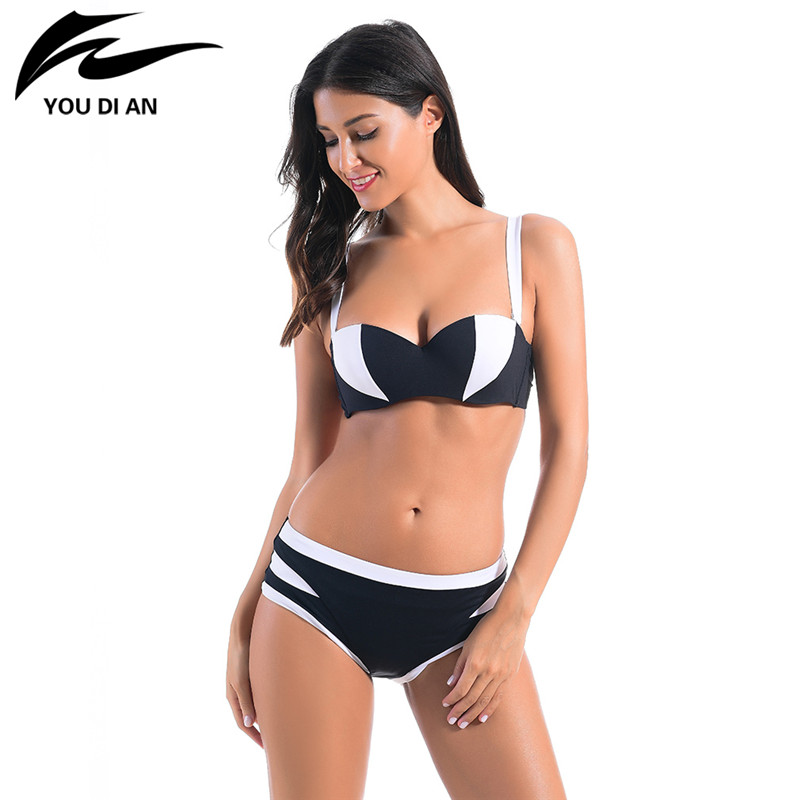 Push Up Bikini 2017 New Sexy Bikinis Women Swimsuit  Mid Waisted Bathing Suits Swim Halter Set Maillot De Bain Femme Swimwear 2017 newest sexy bikinis women swimsuit low waisted bathing fleshcolor suits swim halter top push up bikini set swimwear bj082