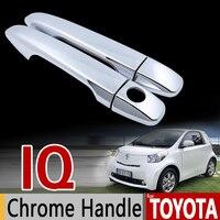 For Toyota IQ For Scion IQ Chrome Handle Cover Trim Set For Aston Martin Cygnet 2008