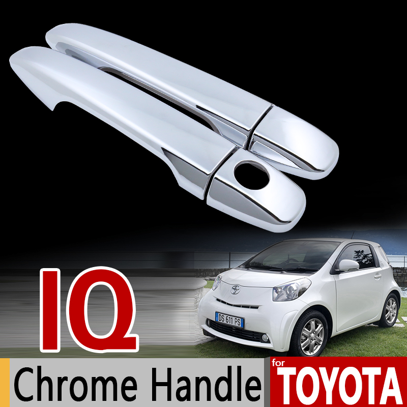 for Toyota iQ for Scion iQ Chrome Handle Cover Trim Set for Aston Martin Cygnet 2008-2016 Car Accessories Stickers Car Styling for hyundai i20 2008 2013 pb chrome door handle cover trim set 2009 2010 2011 2012 car accessories stickers car styling