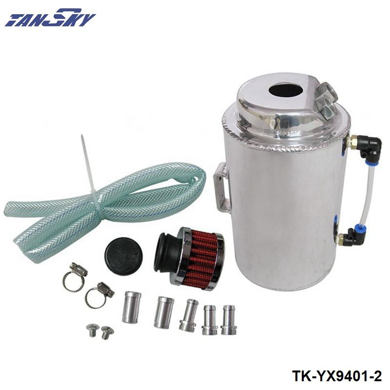 UNIVERSAL 2L ALUMINIUM ALLOY OIL CATCH CAN TANK WITH BREATHER FILTER TK-YX9401-2