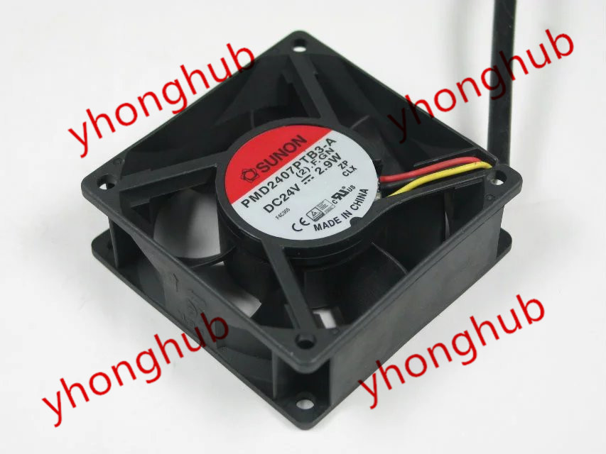 Free Shipping For SUNON PMD2407PTB3-A, (2).F.GN DC 24V 2.9W 3-wire 3-pin 70x70x25mm Server Square fan 24 2407