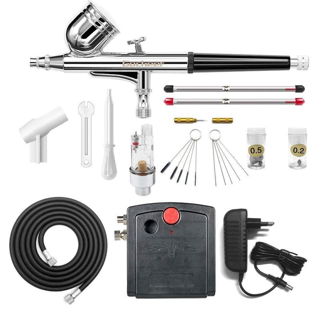 Gocheer mini double action spray gun compressor set for nail set model spray spray gun gun
