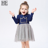 طفل فتاة فساتين 2018 جديد كيد الملابس فاهيون الخريف شتاء دافئ شبكة الطفل تاج الأميرة اللباس عيد فتاة اللباس الأطفال