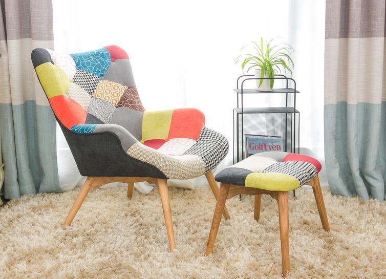 Mitte Des Jahrhunderts Moderne Kontur Stuhl W/Hocker Wohnzimmer Möbel  Gedämpften Stoff Sessel Chaiselongue Stoff Akzent Stuhl In Mitte Des  Jahrhunderts ...