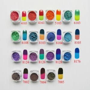 Pigment-Powder Dust-Decoration Thermochromic Thermal-Color-Change Nail-Art... Gradient