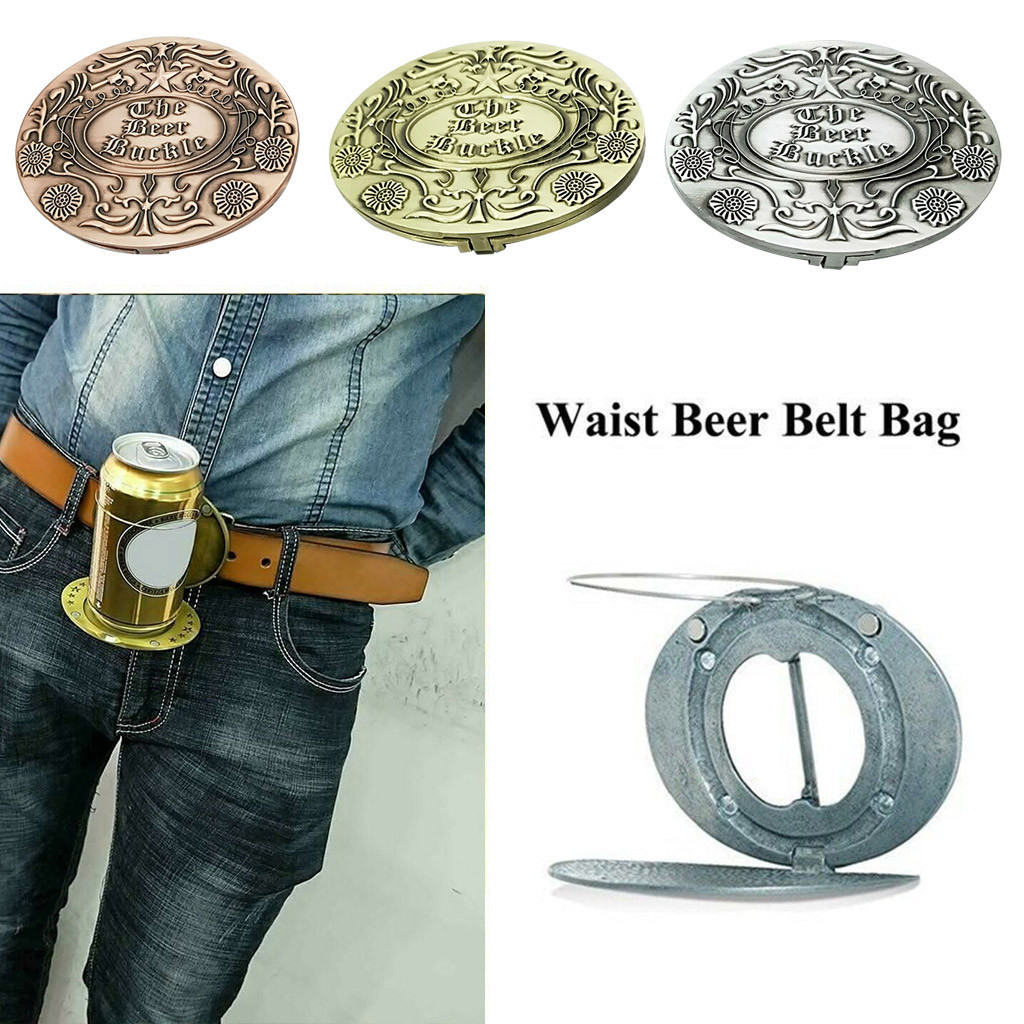 Metal Beer Head Belt Party Funny Bottle Buckle Belt Buckle Beer Holder D90612