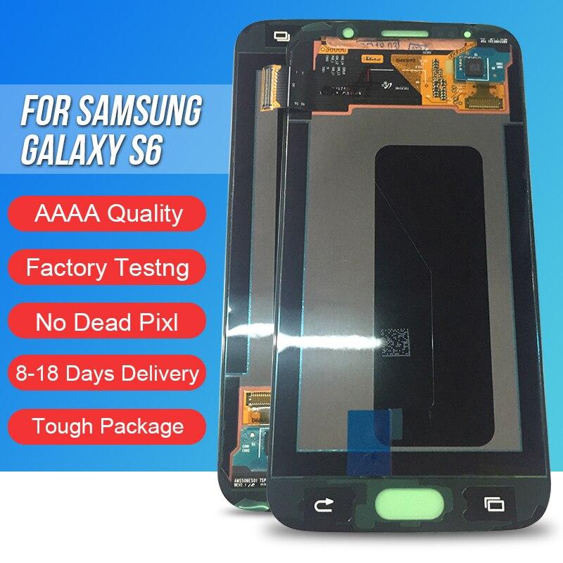 ACKOOLLA мобильных телефонов Дисплеи для samsung Galaxy S6 Мобильные аксессуары Запчасти дисплеев мобильных телефонов Сенсорный экран кронштейн