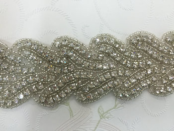 DHL FREE Craft Braide Beaded Rhinestones Lace Trim Costume Applique Sewing on Trim 10yards/lot